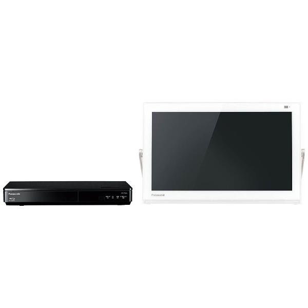 15V型 地上・BS・110度CS対応 ブルーレイディスクプレーヤー付ポータブルテレビ プライベートビエラ UN-15TD6-W ホワイト (500GB内蔵HDDレコーダー付)
