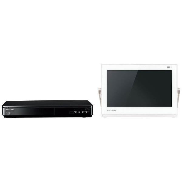10V型 地上・BS・110度CS対応 ブルーレイディスクプレーヤー付ポータブルテレビ プライベートビエラ UN-10TD6-W ホワイト (500GB内蔵HDDレコーダー付)