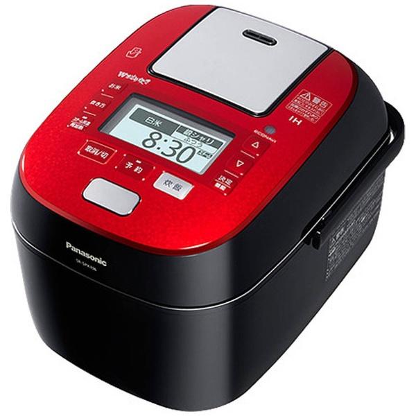 可変圧力スチームIHジャー炊飯器 「Wおどり炊き」(5.5合) SR-SPX106-RK ルージュブラック