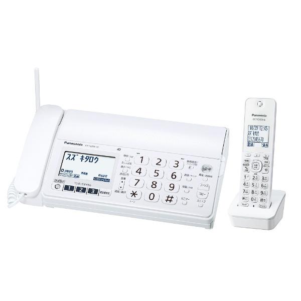 【子機1台】デジタルコードレス普通紙FAX 「おたっくす」(ホワイト) KX-PZ200DL-W