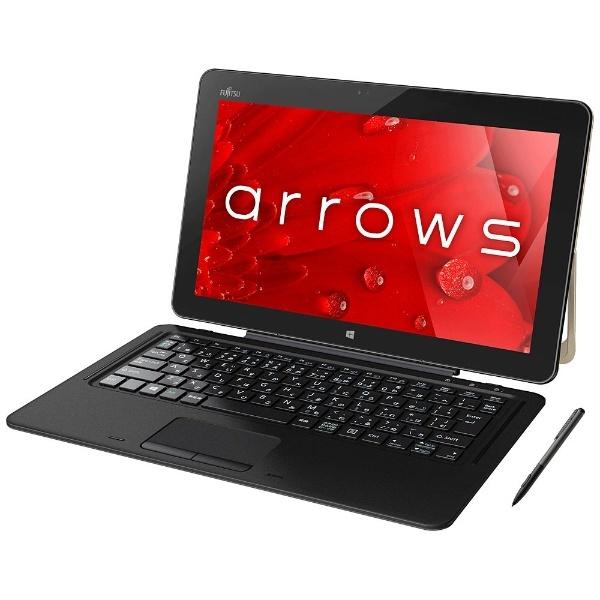 Windows 10タブレット[Office付き・12.5型・Core i5・SSD 256GB・メモリ 4GB] arrows Tab RH77/B1 ゴールド FARR77B1 (2017年春モデル)