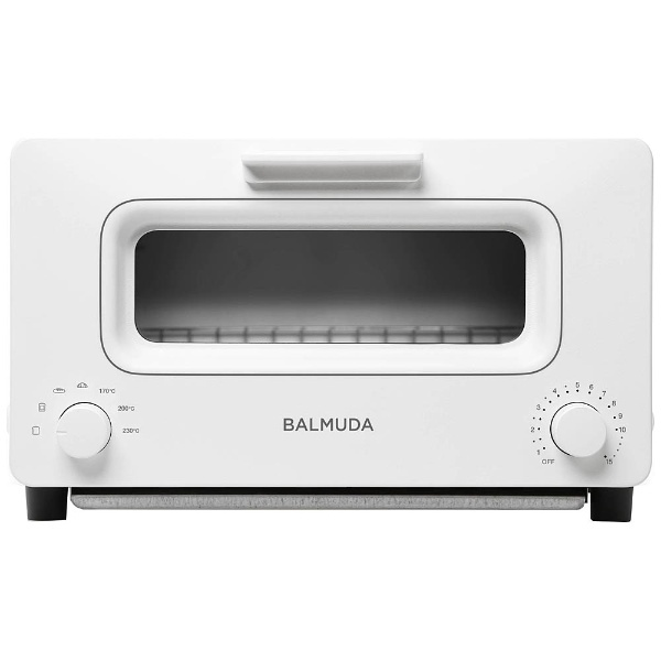 オーブントースター 「BALMUDA The Toaster」(1300W) K01E-WS WhitexSilver