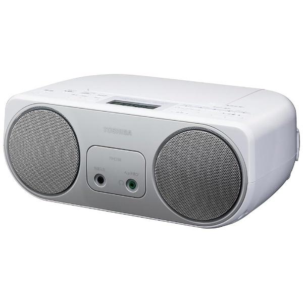 【ワイドFM対応】CDラジオ (ラジオ+CD)(シルバー) TY-C150S