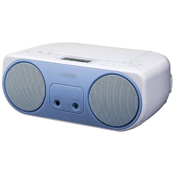 【ワイドFM対応】CDラジオ (ラジオ+CD)(ブルー)TY-C150L
