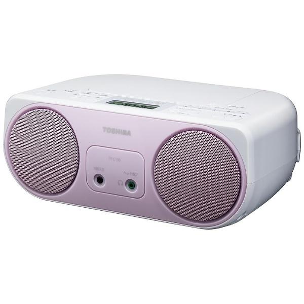 【ワイドFM対応】CDラジオ (ラジオ+CD)(ピンク)TY-C150P