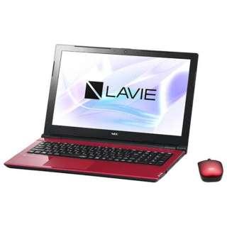 15.6型ワイドノートPC LAVIE Note Standard[Office付き・Win10]PC-NS700JAR(2017年10月モデル・ルミナスレッド)