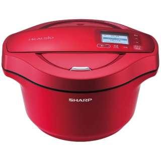 水なし自動調理鍋 「ヘルシオ ホットクック」(2.4L) KN-HW24C-R レッド系