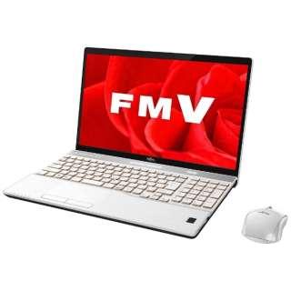 15.6型ノートPC[Office付き・Win10 Home・Core i7・HDD 1TB・メモリ 8GB] LIFEBOOK AH77/B3 プレミアムホワイト FMVA77B3W(2017年秋冬モデル)