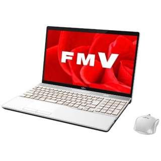 15.6型ノートPC[Office付き・Win10 Home・Core i7・HDD 1TB・メモリ 8GB] LIFEBOOK AH53/B3 プレミアムホワイト FMVA53B3W(2017年秋冬モデル)