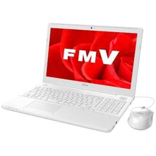 15.6型ノートPC[Office付き・Win10 Home・Celeron・HDD 1TB・メモリ 4GB] LIFEBOOK AH42/B3 プレミアムホワイト FMVA42B3W(2017年秋冬モデル)
