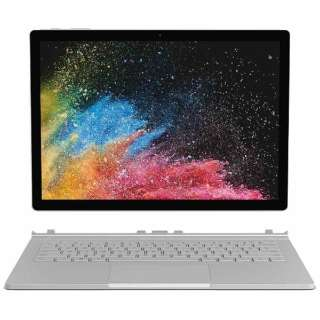 13.5型タッチ対応ノートPC[Office付き・Win10 Pro・Intel Core i7・SSD 512GB・メモリ 16GB]Surface Book 2 シルバー HNL-00012