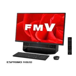 ESPRIMO FH90/B3 27型デスクトップPC[TVチューナ・Office付き・Win10 Home・Core i7・HDD 3TB・メモリ 8GB]2018年1月モデル FMVF90B3B オーシャンブラック [HDD 3TB]