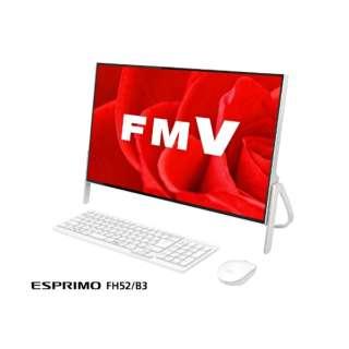 ESPRIMO FH52/B3 23.8型デスクトップPC[Office付き・Win10 Home・Celeron・HDD 1TB・メモリ 4GB]2018年1月モデル FMVF52B3W2 ホワイト [HDD 1TB]