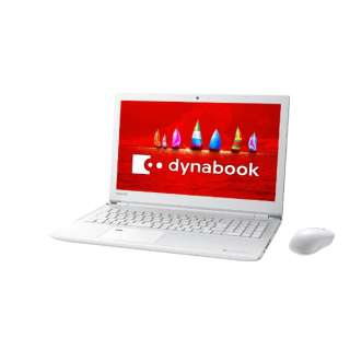 dynabook T55/FW 15.6型ノートPC[Office付き・Win10 Home・Core i3・HDD 1TB・メモリ 4GB]2018年春モデル PT55FWP-BJA2 リュクスホワイト