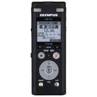 ICレコーダー DM-750BLK ブラック [4GB]