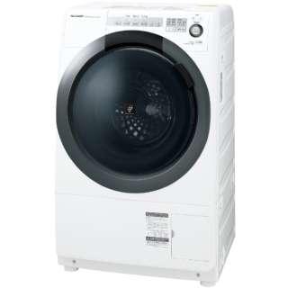[左開き] ドラム式洗濯乾燥機 (洗濯7.0kg/乾燥3.5kg) ES-S7C-WL ホワイト系 【洗濯槽自動お掃除・ヒーター乾燥機能付】