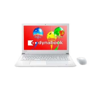 15.6型ノートPC[Office付き・Win10 Home・Celeron・HDD 1TB・メモリ 4GB] dynabook T45/GW リュクスホワイト PT45GWP-SEA (2018年夏モデル) PT45GWP-SEA リュクスホワイト
