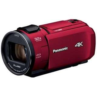 SD対応 64GBメモリー内蔵4Kビデオカメラ HC-VX1M レッド