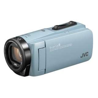 SD対応 64GBメモリー内蔵 防水・防塵・耐衝撃フルハイビジョンビデオカメラ(サックスブルー) GZ-RX680-A