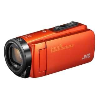 SD対応 64GBメモリー内蔵 防水・防塵・耐衝撃フルハイビジョンビデオカメラ(ブラッドオレンジ) GZ-RX680-D