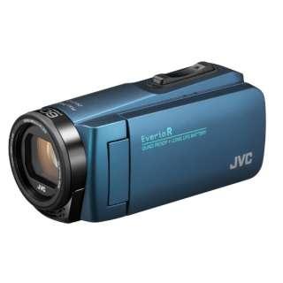 SD対応 32GBメモリー内蔵 防水・防塵・耐衝撃フルハイビジョンビデオカメラ(ネイビーブルー) GZ-R480-A