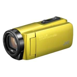 SD対応 32GBメモリー内蔵 防水・防塵・耐衝撃フルハイビジョンビデオカメラ(シトロンイエロー) GZ-R480-Y