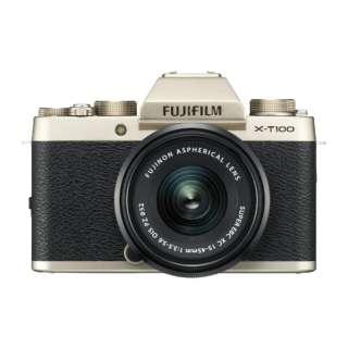 FUJIFILM X-T100【レンズキット】(シャンパンゴールド/ミラーレス一眼カメラ)