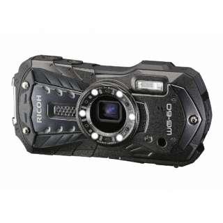 防水コンパクトデジタルカメラ RICOH WG-60(ブラック) WG-60 ブラック [防水+防塵+耐衝撃]