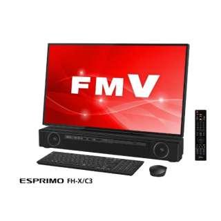 ESPRIMO FH-X/C3 デスクトップパソコン 新4K衛星放送対応・TVチューナー搭載 [27型 /intel Core i7 /HDD:3TB /Optane:16GB /メモリ:8GB] FMVFXC3B オーシャンブラック