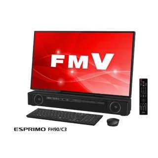 ESPRIMO FH90/C3 デスクトップパソコン TVチューナー搭載 [27型 /intel Core i7 /HDD:3TB /Optane:16GB /メモリ:8GB] FMVF90C3B オーシャンブラック