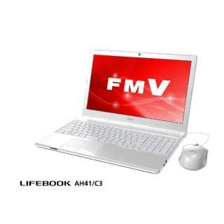 FMVA41C3W ノートパソコン LIFEBOOK AH41/C3 アーバンホワイト [15.6型 /AMD Eシリーズ /SSD:256GB /メモリ:4GB]