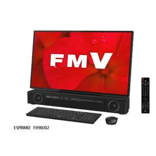 27型デスクトップPC ESPRIMO FH90/D2 [Office付き・Win10 Home・Core i7・HDD 3TB・Optane 16GB・メモリ 8GB]2019年7月モデル FMVF90D2B オーシャンブラック