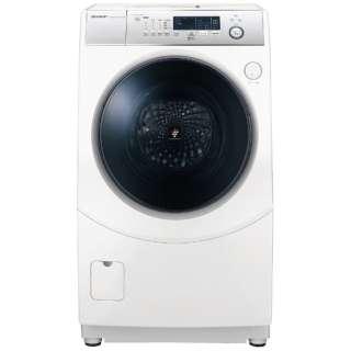 [左開き] ドラム式洗濯乾燥機 (洗濯10.0kg/乾燥6.0kg) ES-H10D-WL ホワイト系 【洗濯槽自動お掃除・ヒーター乾燥機能付】
