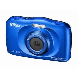 コンパクトデジタルカメラ COOLPIX(クールピクス) W150BL ブルー [防水+防塵+耐衝撃]