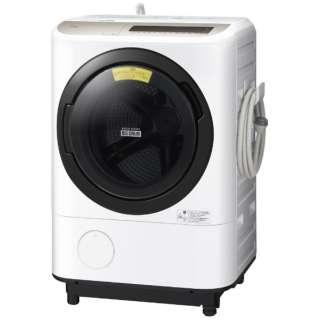 [左開き] ドラム式洗濯乾燥機 (洗濯12.0kg/乾燥6.0kg)「ヒートリサイクル 風アイロン ビッグドラム」 BD-NV120EL-W ホワイト 【洗濯槽自動お掃除・ヒーター乾燥機能付】