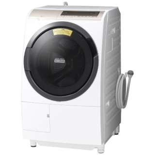[左開き] ドラム式洗濯乾燥機 (洗濯11.0kg/乾燥6.0kg)「ヒートリサイクル 風アイロン ビッグドラム」 BD-SV110EL-W ホワイト 【洗濯槽自動お掃除・ヒーター乾燥機能付】