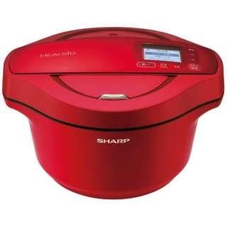 水なし自動調理鍋 「ヘルシオ ホットクック」(2.4L) KN-HW24E-R レッド系