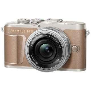 PEN E-PL10【14-42mm EZレンズキット】(ブラウン/ミラーレス一眼カメラ) [ズームレンズ]