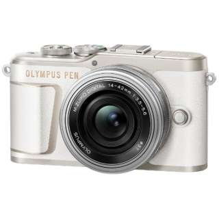 PEN E-PL10【14-42mm EZレンズキット】(ホワイト/ミラーレス一眼カメラ) [ズームレンズ]