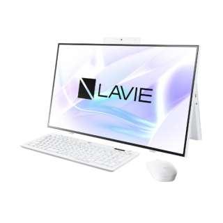 27型デスクトップPC LAVIE Home All-in-one(HA700/RA) [27型 /intel Core i7 /SSD:512GB /メモリ:8GB /2020年春モデル] PC-HA700RAW ファインホワイト