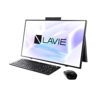 27型デスクトップPC LAVIE Home All-in-one(HA700/RA) [27型 /intel Core i7 /SSD:512GB /メモリ:8GB /2020年春モデル] PC-HA700RAB ファインブラック