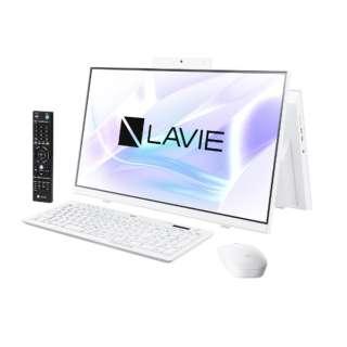 23.8型デスクトップPC LAVIE Home All-in-one(HA770/RA ダブルチューナ搭載) [23.8型 /intel Core i7 /HDD:3TB /SSD:256GB /メモリ:8GB /2020年春モデル] PC-HA770RAW ファインホワイト