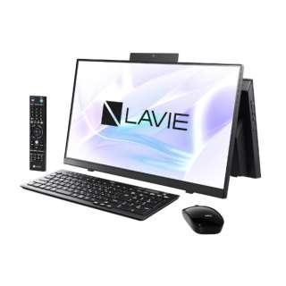 23.8型デスクトップPC LAVIE Home All-in-one(HA770/RA ダブルチューナ搭載) [23.8型 /intel Core i7 /HDD:3TB /SSD:256GB /メモリ:8GB /2020年春モデル] PC-HA770RAB ファインブラック